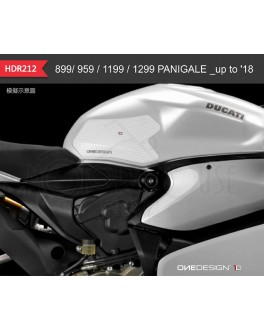 OneDesign保護貼-DUCATI 99/ 959 / 1199 / 1299 PANIGALE to 2018立體 油箱止滑側貼 HR212