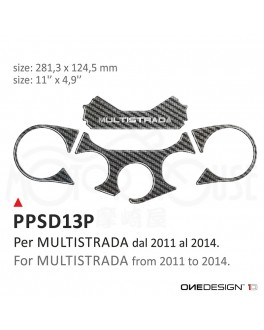 OneDesign保護貼-三角台飾板-DUCATI-MULTISTRADA-2011-2014-PPSD13P